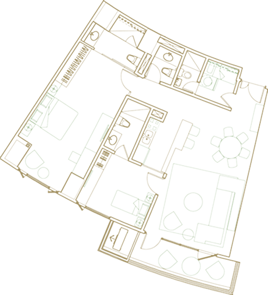 2br deluxe map
